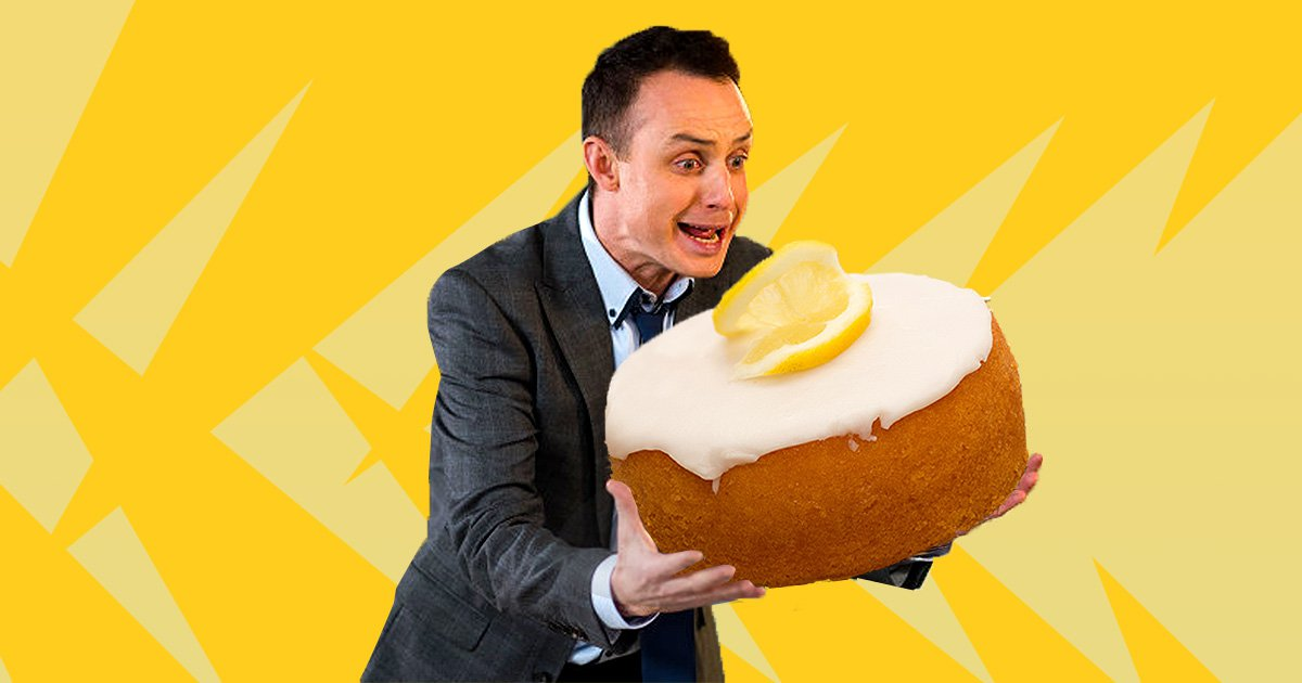 James faces death from lemon drizzle cake