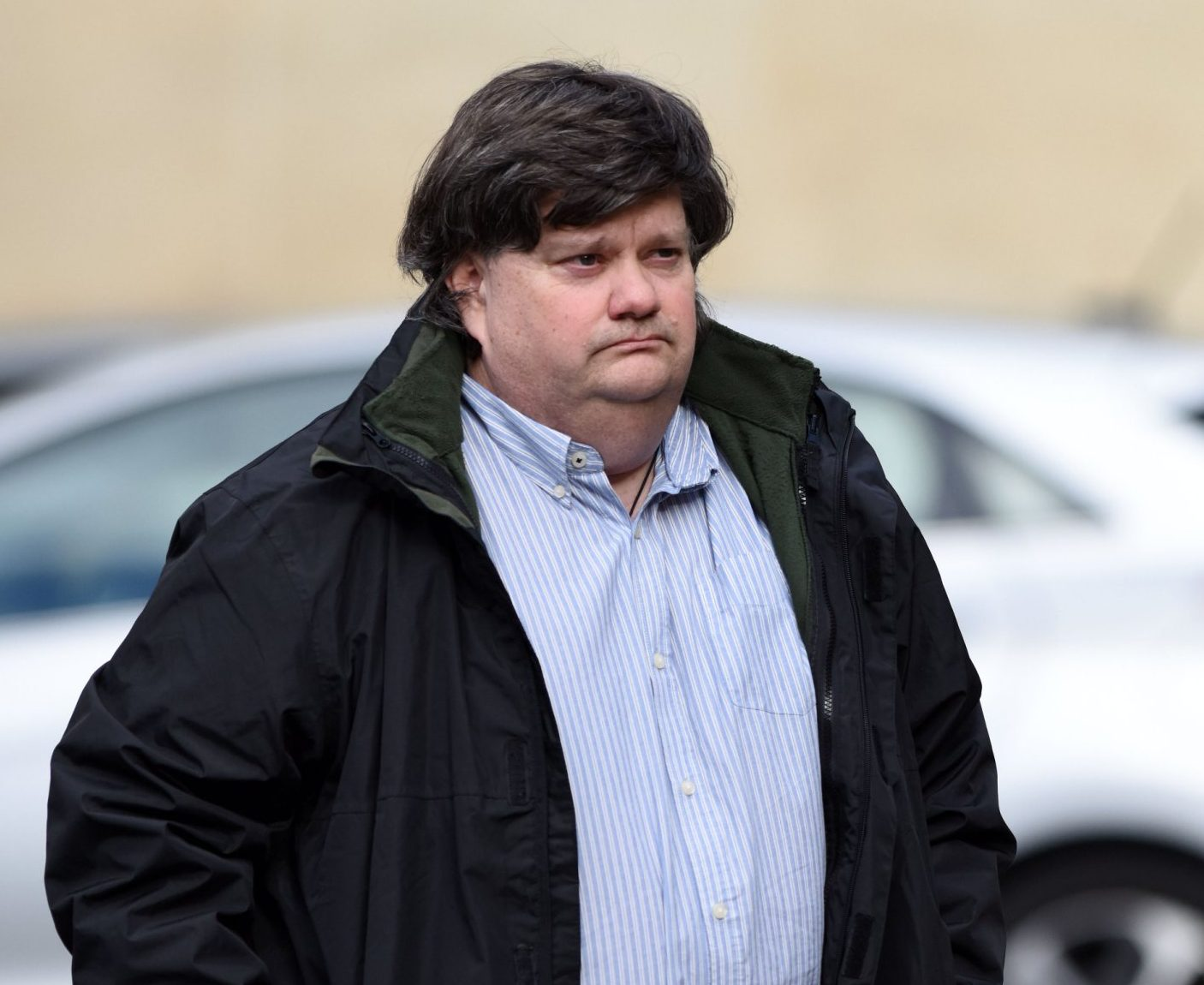 Pics from Caters News - (PICTURED: Carl Beech at Worcester Crown Court today 8/3/18.)- Carl Beech at Worcester Crown Court where he faces possession of indecent images of children charge among various others. Carl Beechs real identity was banned from being reported since he first claimed in 2012 he was sexually abused by politicians and other high-profile figures in the 1970s. Yesterday a judge lifted an anonymity order as the 50-year-old appeared at Newcastle Crown Court via videolink accused of perverting the course of justice and fraud. SEE CATERS COPY.