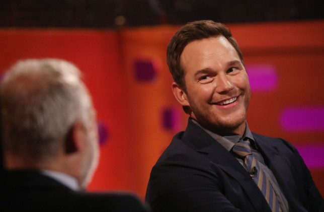 Chris Pratt during the filming for the Graham Norton Show at BBC Studioworks 6 Television Centre, Wood Lane, London, to be aired on BBC One on Friday evening. PRESS ASSOCIATION Photo. Picture date: Thursday January 31, 2019. Photo credit should read: PA Images on behalf of So TV