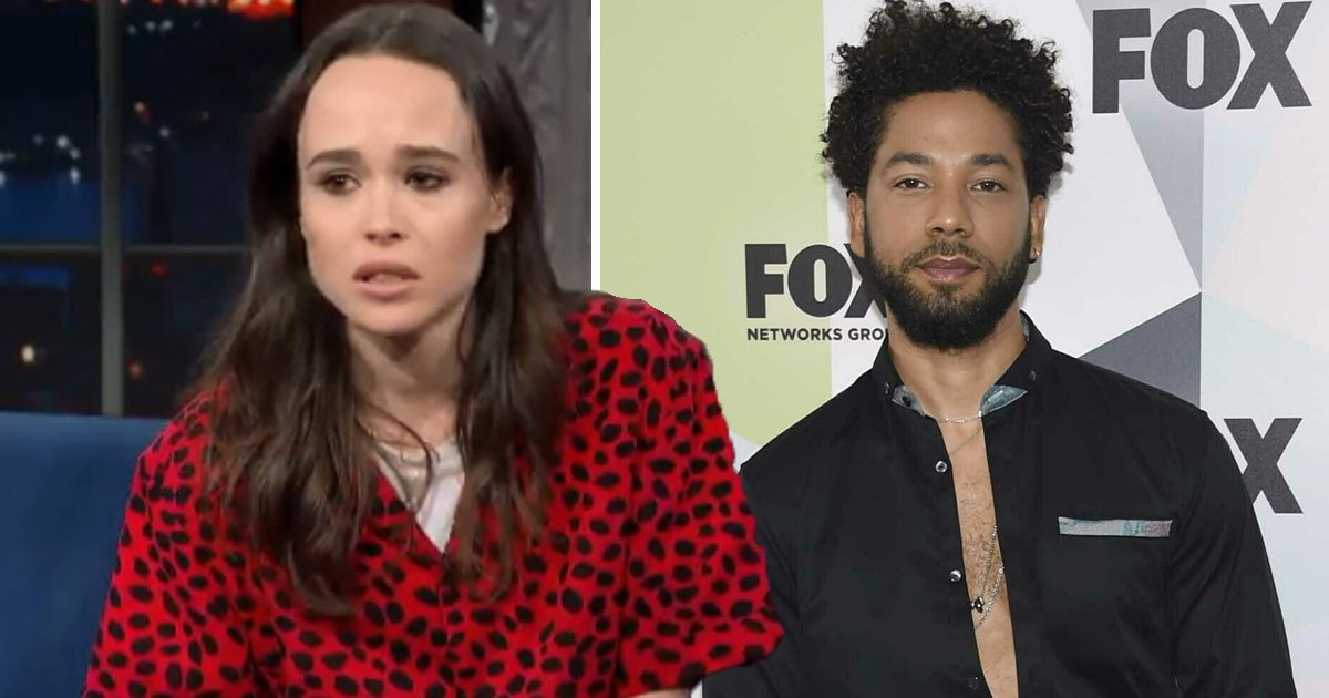 Ellen Page blames Donald Trump and Mike Pence's anti-LGBTQ administration for Jussie Smollett hate crime in ferocious speech on The Stephen Colbert Show