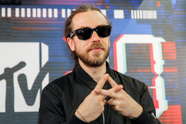MOSCOW, RUSSIA SEPTEMBER 27, 2018: Russian hip-hop artist Kirill Tolmatsky aka Detsl during a live show marking the 20th birthday of the MTV Russia Channel at Moscow's Olimpiysky Arena. Sergei Bobylev/TASS (Photo by Sergei Bobylev\TASS via Getty Images)