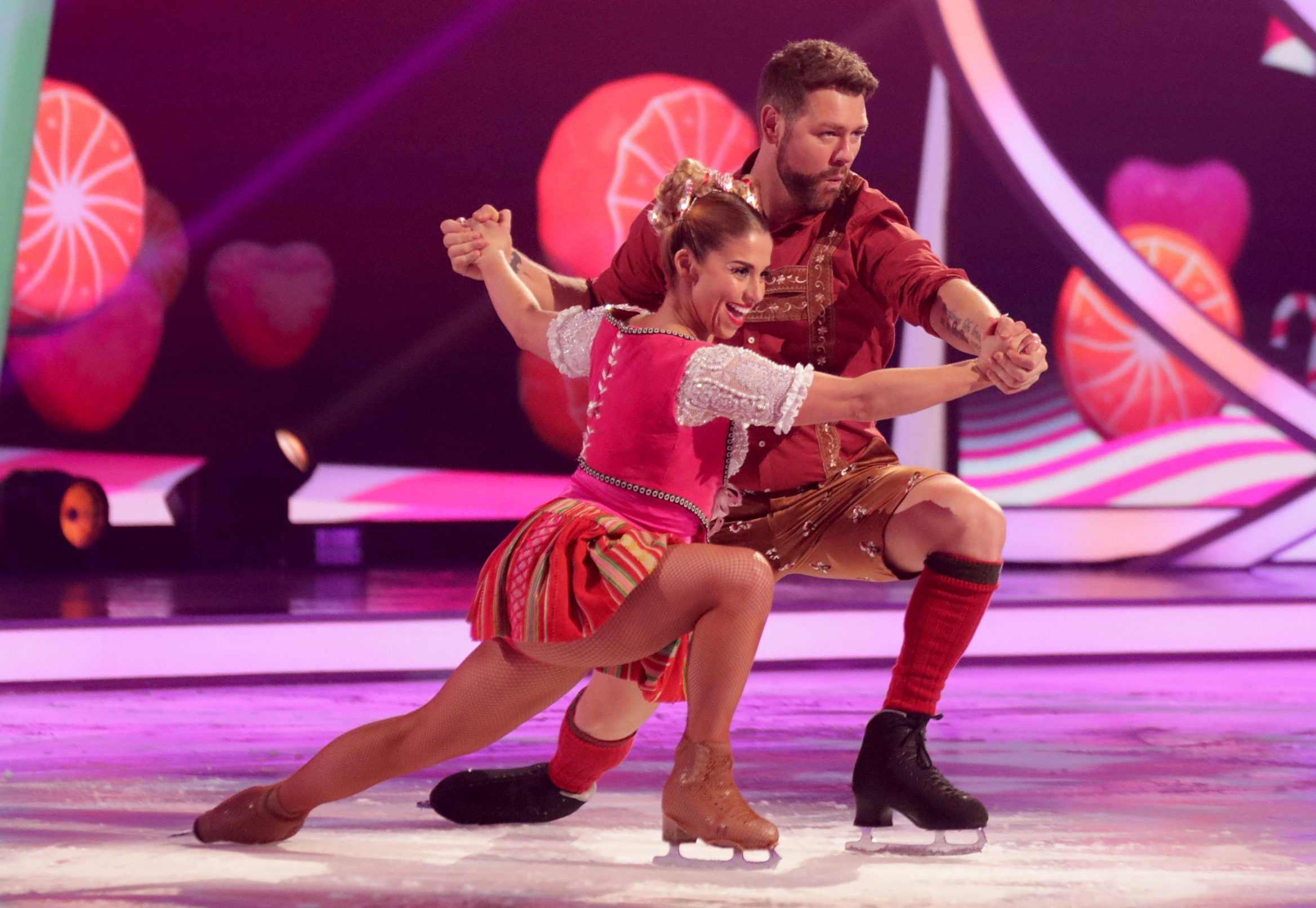 Editorial use only Mandatory Credit: Photo by Matt Frost/ITV/REX (10080492ay) Brian McFadden and Alex Murphy 'Dancing on Ice' TV show, Series 11, Episode 5, Hertfordshire, UK - 03 Feb 2019