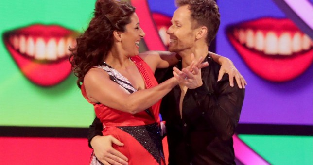 Editorial use only Mandatory Credit: Photo by Matt Frost/ITV/REX (10080492jn) Saira Khan and Mark Hanretty in the skate off 'Dancing on Ice' TV show, Series 11, Episode 5, Hertfordshire, UK - 03 Feb 2019