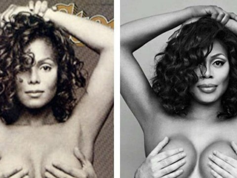 Laverne Cox leads fans in Janet Jackson Appreciation Day before Super Bowl