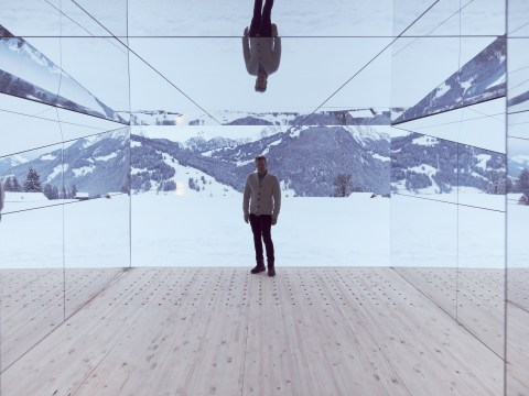 Imagine the Instagram potential of this mirrored cabin in the Swiss Alps