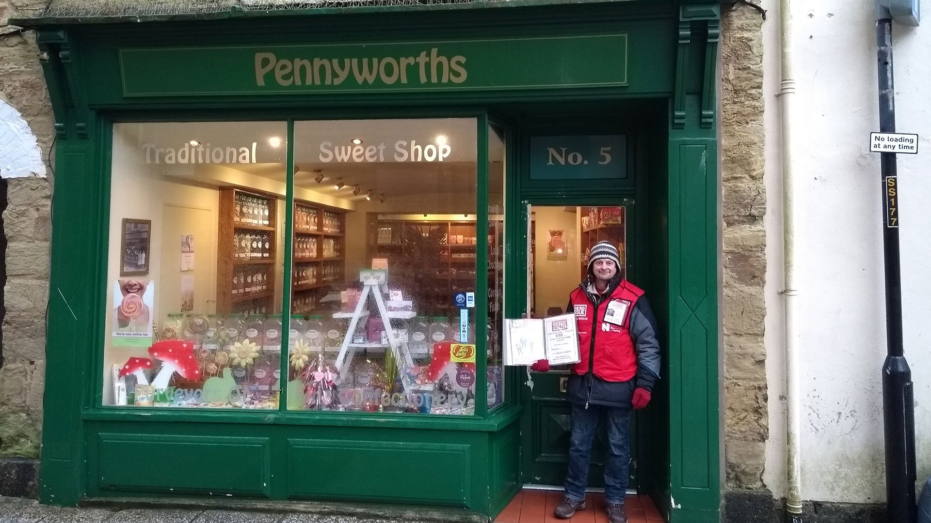 Big Issue seller hailed a hero after thwarting sweet shop raid