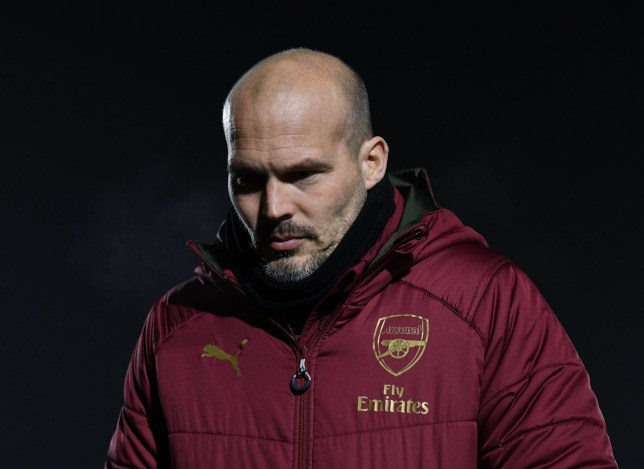BOREHAMWOOD, ENGLAND - FEBRUARY 04: Freddie Ljungberg the Manager of Arsenal U23s before the match between Arsenal U23 and West Ham United U23 at Meadow Park on February 4, 2019 in Borehamwood, England. (Photo by David Price/Arsenal FC via Getty Images)