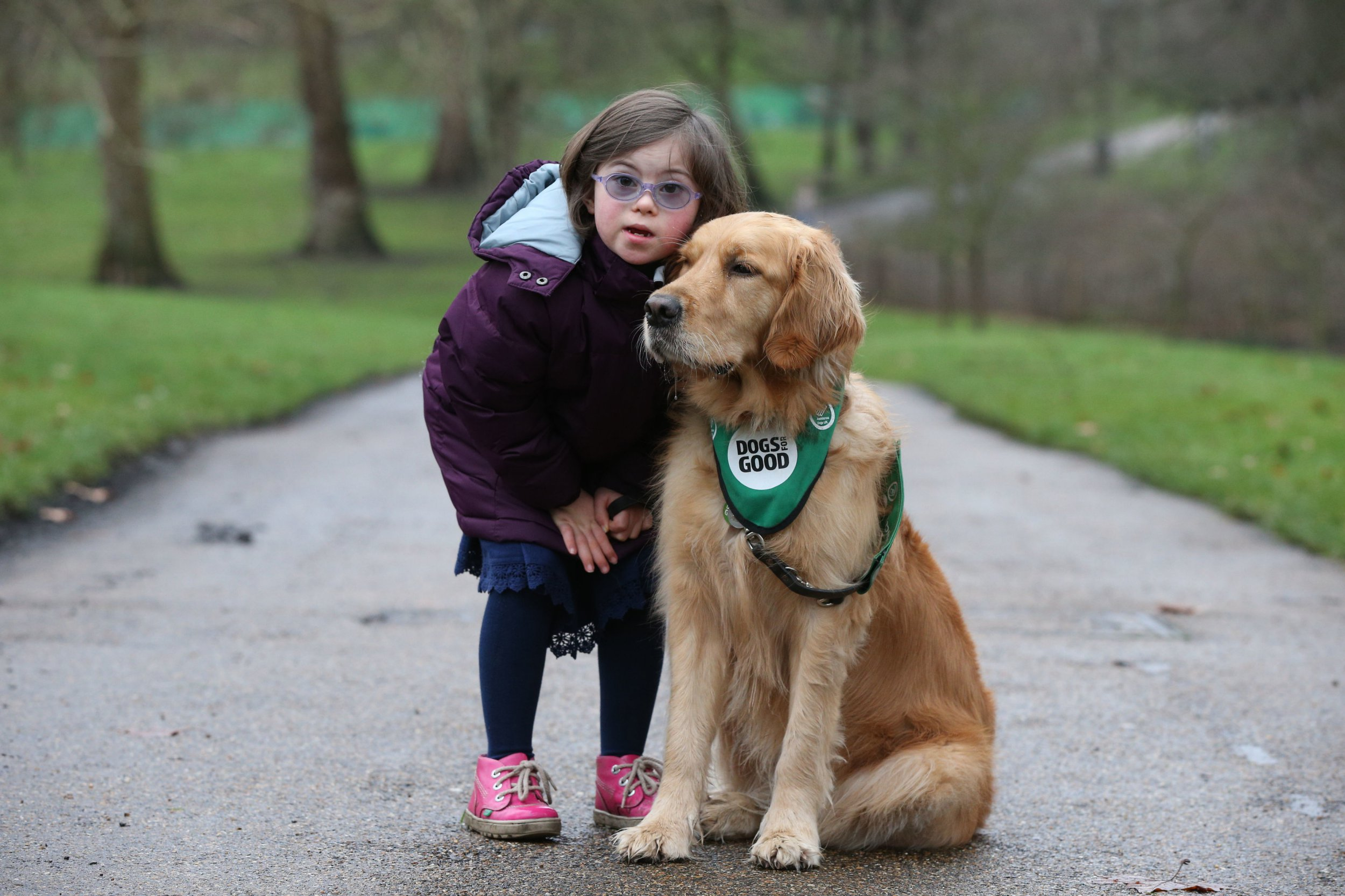 Milli Gunn from Essex with dog Emma , one of the finalists for the prestigious Crufts dog hero competition, Friends for Life 2019, at a launch event for this year's Crufts and the Friends for Life dog hero finalists at the Kennel Club in London. PRESS ASSOCIATION Photo. Picture date: Tuesday February 5, 2019. See PA story ANIMALS Crufts. Photo credit should read: Jonathan Brady/PA Wire