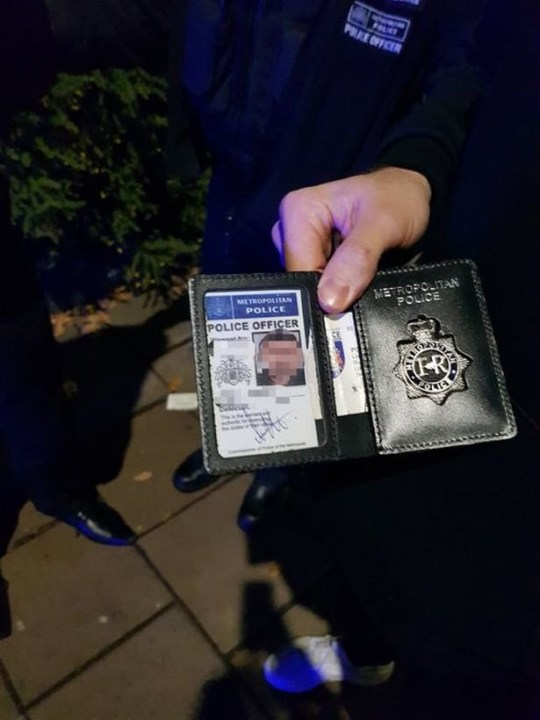 A drunk driver was caught using a fake police warrant card to get a discount at McDonald's after flashing the ID at real officers. Vinod Patel was driving a blacked-out Mercedes in the car park of McDonald's near Wembley stadium after buying himself a discounted meal, when he reversed at speed towards some police officers on November 25. Caption: The fake warrant card he flashed at the officers before speeding off has now been destroyed.