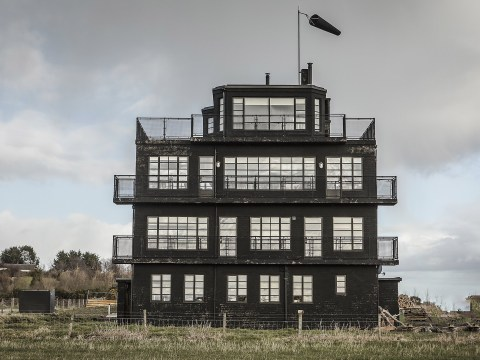 You can stay the night in a restored World War II air control tower in the Scottish Highlands