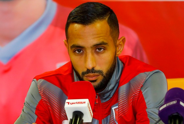 Juventus' defender Mehdi Benatia from Morocco attends a press conference announcing his signing as the player for Qatari football club Al-Duhail, at the club in the capital Doha on February 5, 2019