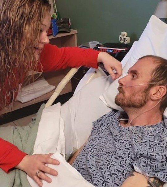 Wife sings Amazing Grace to husband dying of 'human form of mad cow disease'. Tony Gibson, 33, passed away at a nursing home in Hendersonville on January 30, with his wife Danielle, 31, and two sets of twin girls, ages 11 and two.
