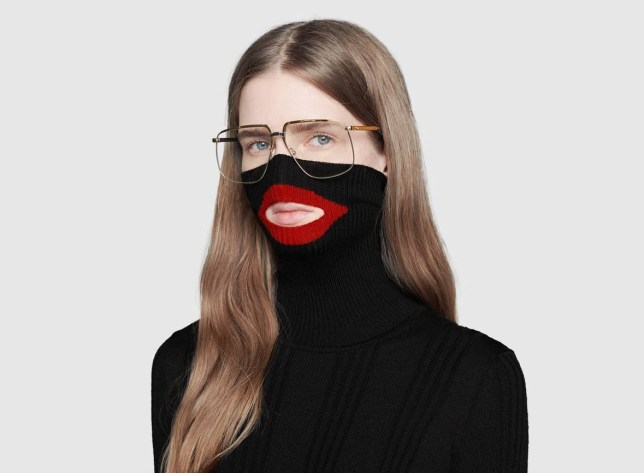 6676289 $890 balaclava knit top by Gucci sparks outrage as it's likened to blackface