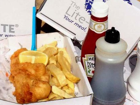 What a 'healthy' portion of fish and chips looks like