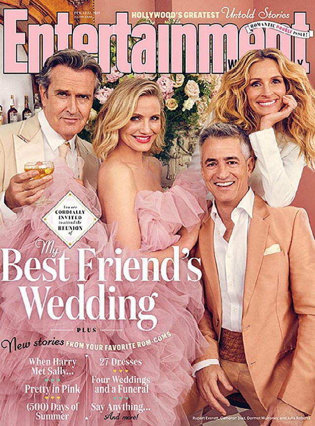 My Best Friend's Wedding EW shoot Picture: EW METROGRAB source; https://ew.com/movie-reunions/2019/02/07/my-best-friends-wedding-reunion-cover/