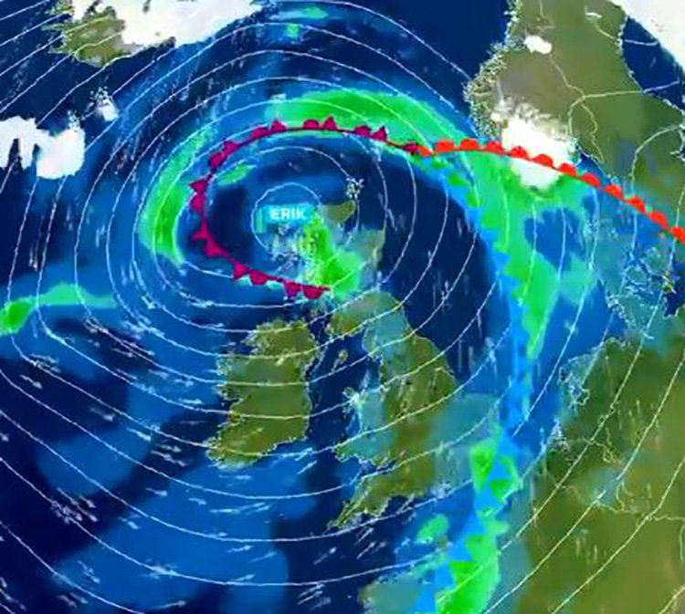 Storm Erik on its way Provider: Twitter/metoffice Source: https://twitter.com/metoffice/status/1093464804310896641