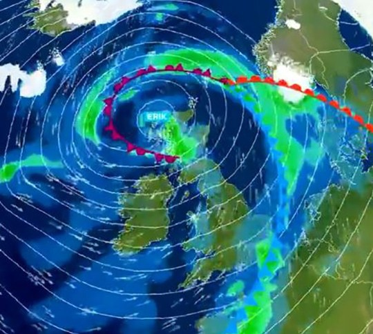 Storm Erik on its way Provider: Twitter/metoffice Source: https://twitter.com/metoffice/status/1093464804310896641