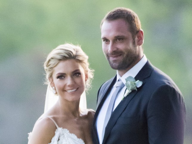 Sam Frost and Jake Ryan in their on screen wedding