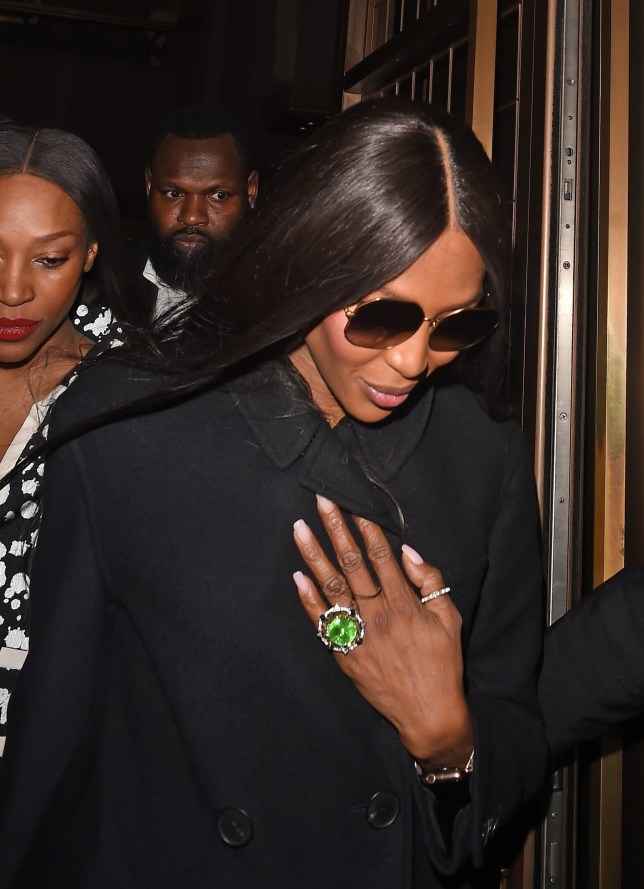 BGUK_1481110 - London, UNITED KINGDOM - Fashion Model Naomi Campbell leaving the Cafe Royal hotel for her Vogue magazine signing Pictured: Naomi Campbell BACKGRID UK 8 FEBRUARY 2019 BYLINE MUST READ: Zed Jameson / BACKGRID UK: +44 208 344 2007 / uksales@backgrid.com USA: +1 310 798 9111 / usasales@backgrid.com *UK Clients - Pictures Containing Children Please Pixelate Face Prior To Publication*