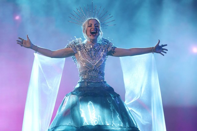 GOLD COAST, AUSTRALIA - FEBRUARY 09: Kate Miller-Heidke performs during Eurovision - Australia Decides at Gold Coast Convention and Exhibition Centre on February 09, 2019 in Gold Coast, Australia. (Photo by Chris Hyde/Getty Images)