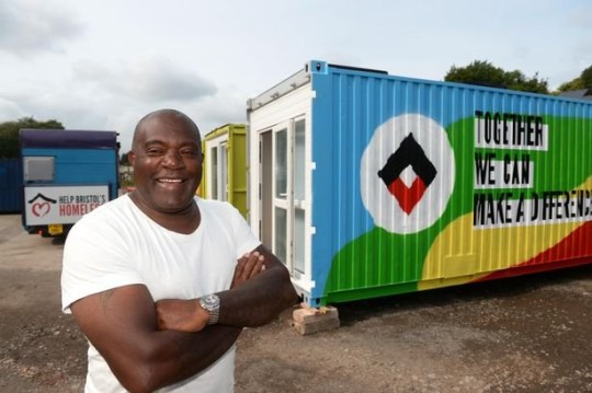 Jasper Thompson who set up social enterprise Help Bristol?s HomelessSee SWNS copy SWBRhome: A group of social entrepreneurs are helping the homeless - by transforming shipping containers into homes for rough sleepers. The metal units are among dozens of old storage containers being turned into living spaces as part of a project by social enterprise Help Bristol?s Homeless. The containers-turned-homes will provide accommodation for a rough sleeper for an entire year.