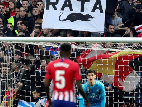 Atletico Madrid fans throw rats at Thibaut Courtois after vandalising goalkeeper's plaque