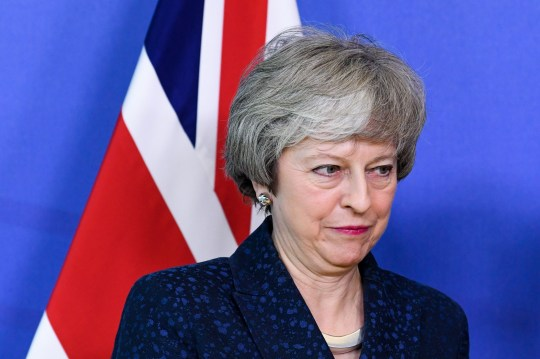 Mandatory Credit: Photo by Isopix/REX/Shutterstock (10096194f) Theresa May Theresa May visit to Brussels, Belgium - 07 Feb 2019