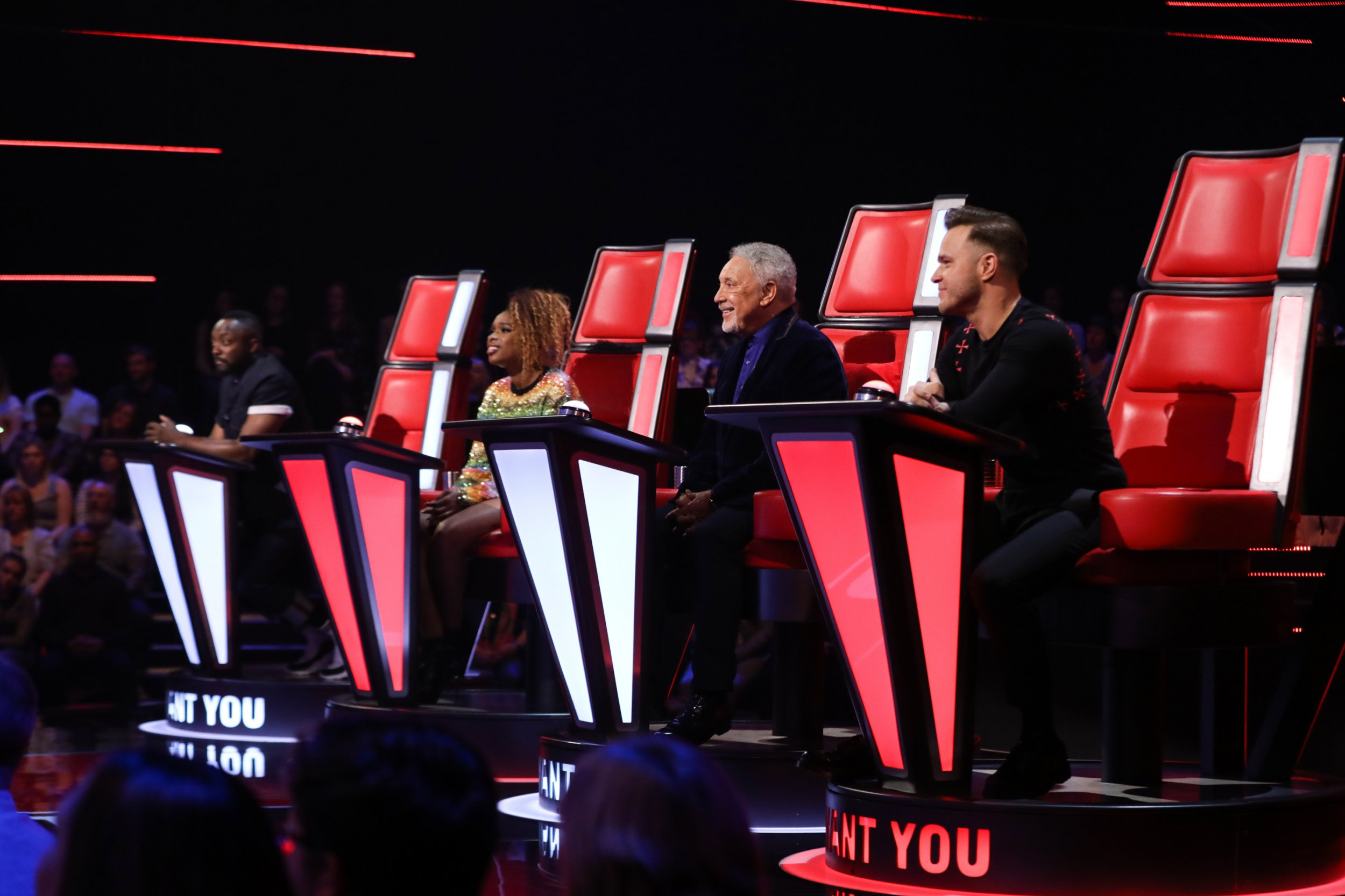 STRICT EMBARGO - NO USE BEFORE 21:30 09 FEB 2019 - Editorial use only Mandatory Credit: Photo by Rachel Joseph/ITV/REX/Shutterstock (10099380a) Nyema Kalfon perfoms. Will and Sir Tom turns Nyema chooses Team Will - will i am, Jennifer Hudson, Tom Jones, Olly Murs. 'The Voice UK' TV Show, Series 3, Episode 6, UK - 09 Feb 2019