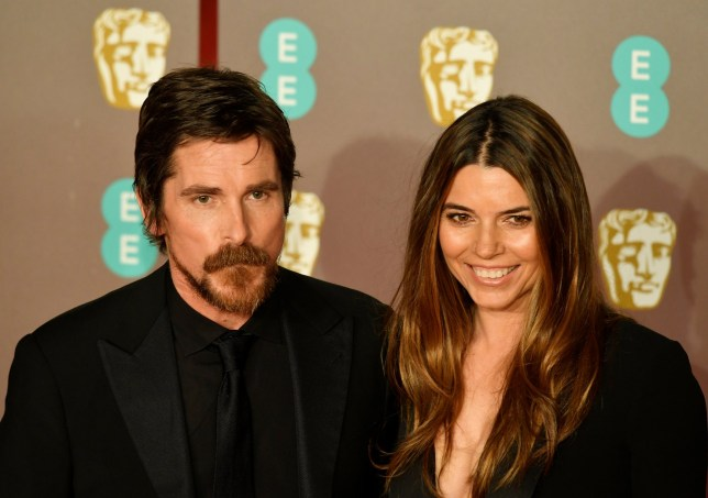 Christian Bale at the British Academy of Film and Television Awards with wife Sibi Blazic