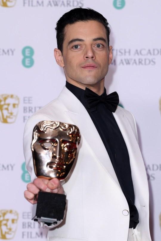 Mandatory Credit: Photo by David Fisher/BAFTA/REX (10082409gr) Rami Malek - Leading Actor - 'Bohemian Rhapsody' 72nd British Academy Film Awards, Press Room, Royal Albert Hall, London, UK - 10 Feb 2019