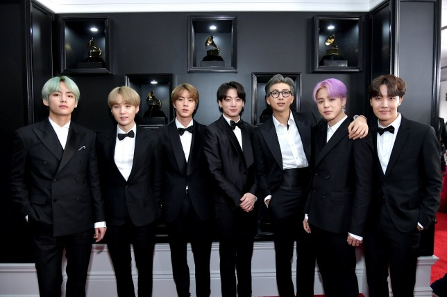 LOS ANGELES, CA - FEBRUARY 10: BTS attends the 61st Annual GRAMMY Awards at Staples Center on February 10, 2019 in Los Angeles, California. (Photo by Neilson Barnard/Getty Images for The Recording Academy)