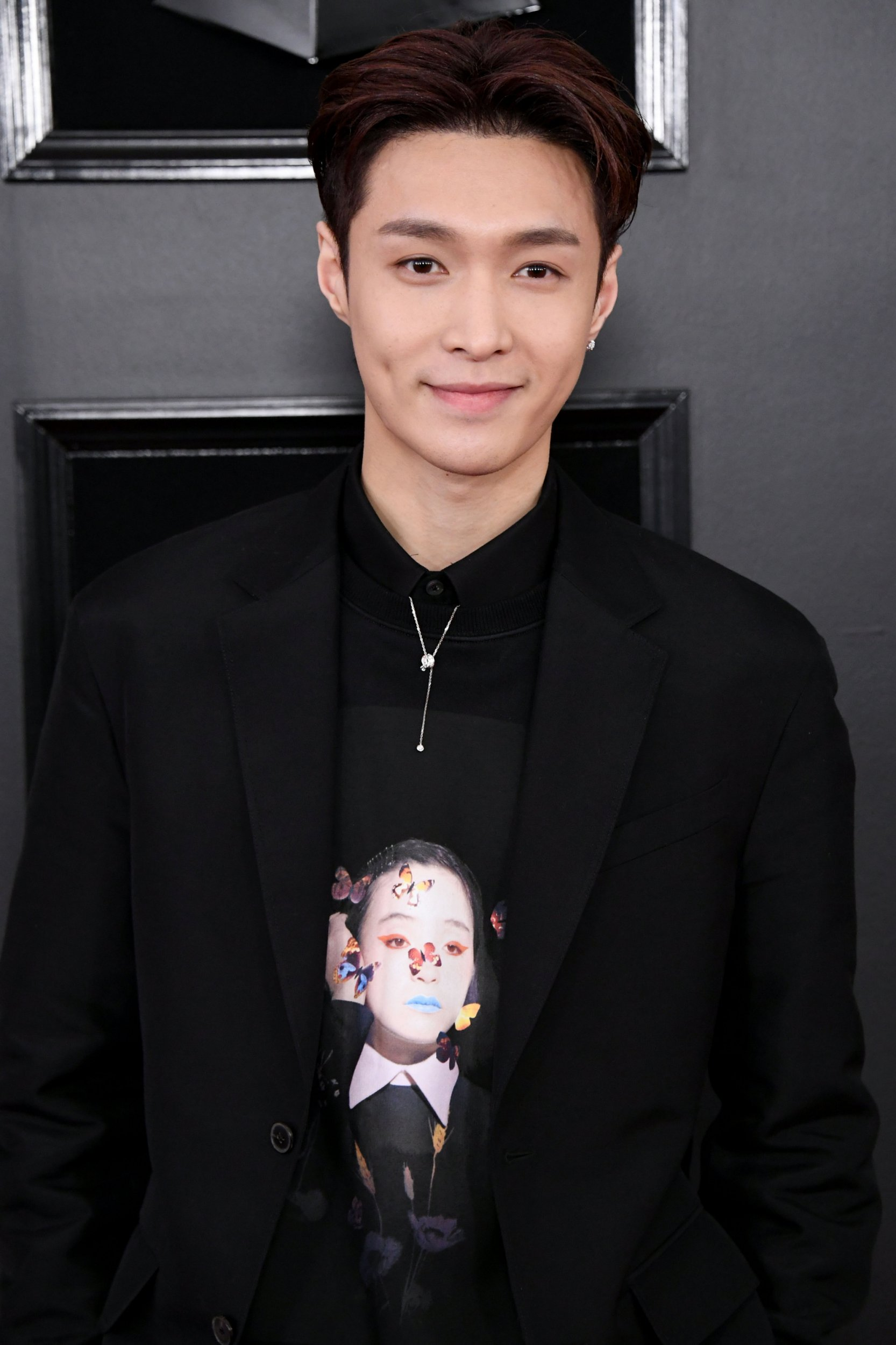 EXO member Lay Zhang attends the Grammy Awards at the Staples Center in California