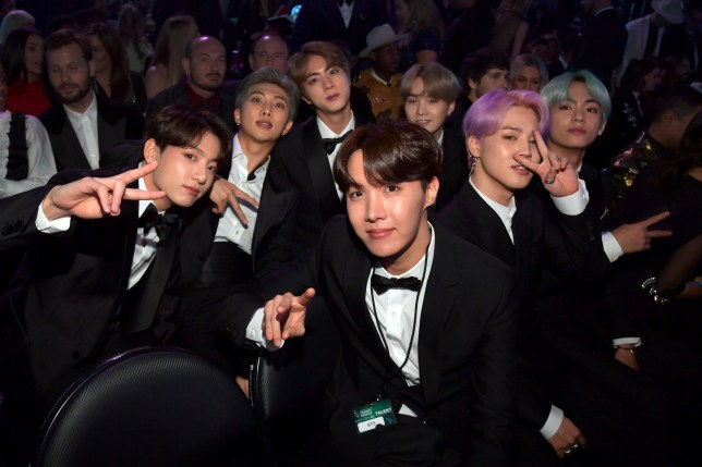 LOS ANGELES, CA - FEBRUARY 10: BTS during the 61st Annual GRAMMY Awards at Staples Center on February 10, 2019 in Los Angeles, California. (Photo by Lester Cohen/Getty Images for The Recording Academy)