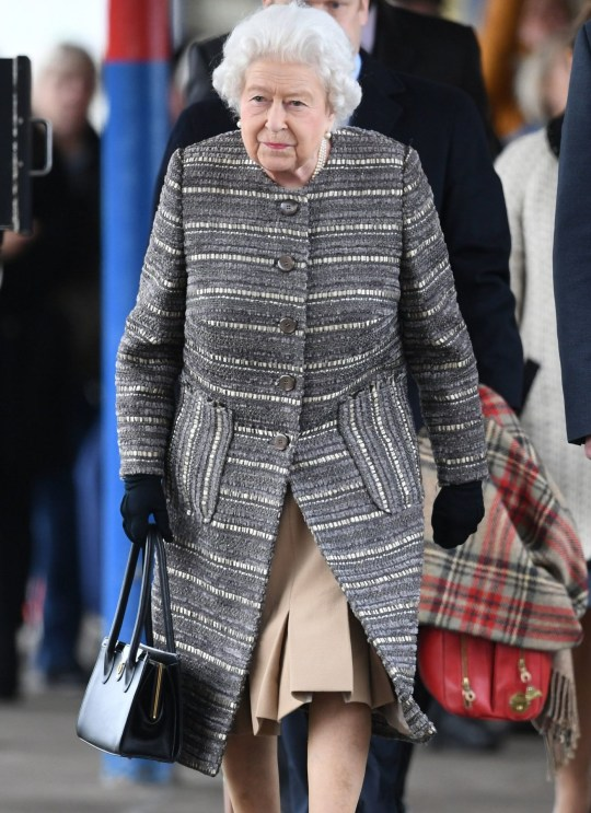 Queen Elizabeth II arrives at King's Lynn railway station in Norfolk to board a train to return to London, after spending the Christmas period at Sandringham House in north Norfolk. PRESS ASSOCIATION Photo. Picture date: Monday February 11, 2019. See PA story ROYAL Queen. Photo credit should read: Joe Giddens/PA Wire