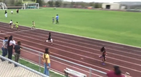 Fastest boy in the world Rudolph Blaze Ingram can already