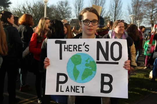 """Students in Cambridge city centre march against climate change. Youngsters across the country are protesting in the face of """"an alarming lack of Government leadership?, Youth Strike 4 Climate organisers say. The demonstration follows similar action in schools across Australia and European countries inspired by Swedish teenage climate activist Greta Thunberg."""