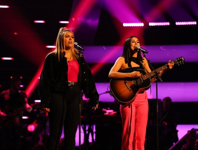 STRICT EMBARGO - NO USE BEFORE 22:30 FRIDAY 15 FEB 2019 - Editorial use only Mandatory Credit: Photo by Rachel Joseph/ITV/REX (10107992ab) GGMK [Georgia and Missy] perform. 'The Voice UK' TV Show, Series 3, Episode 7, UK - 16 Feb 2019