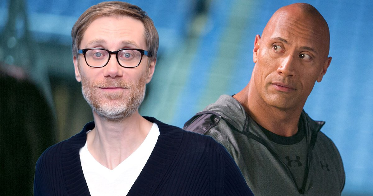 Dwayne 'The Rock' Johnson inspires Stephen Merchant to 'take on pro-wrestling' and we can't stop laughing