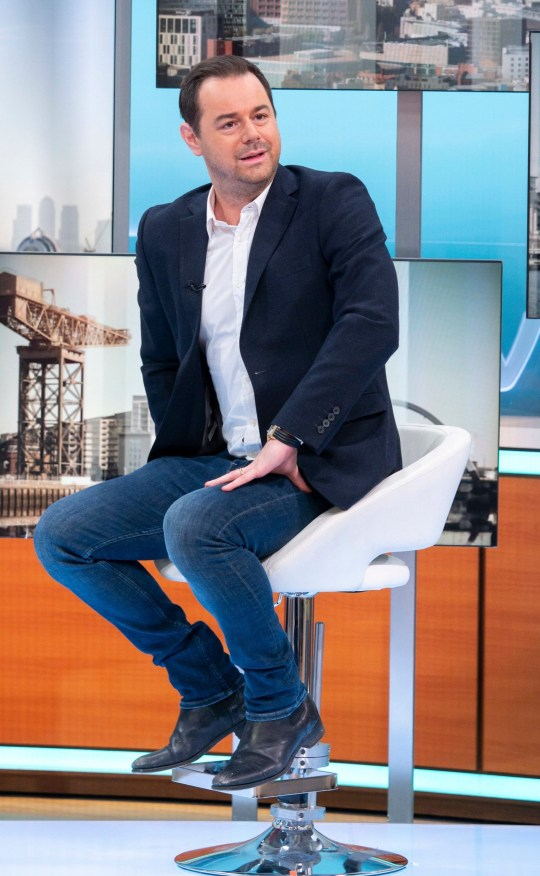 Editorial use only Mandatory Credit: Photo by S Meddle/ITV/REX (10109535ah) Danny Dyer 'Good Morning Britain' TV show, London, UK - 18 Feb 2019 GMB PRINCE'S TRUST MENTOR OF THE YEAR AWARD Viewers have just four days to vote for this year's Mentor of the Year. VT: Mentor finalists Mediawall: Danny Dyer