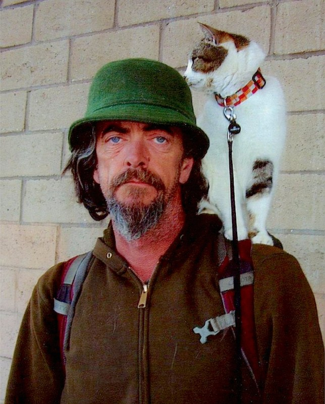 Michael King and his cat Tabor. Pictures for Deborah Arthurs