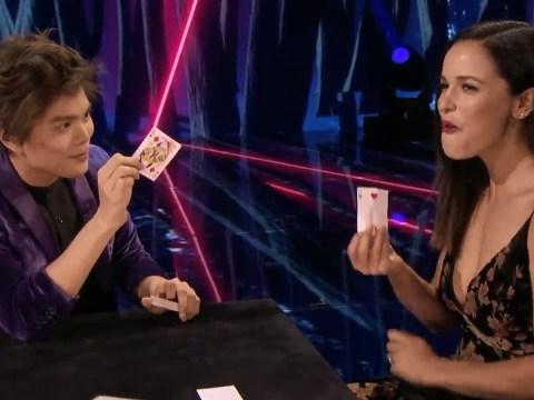 America's Got Talent: The Champions Shin Lim stuns Brooklyn Nine Nine star Melissa Fumero with insane card illusion