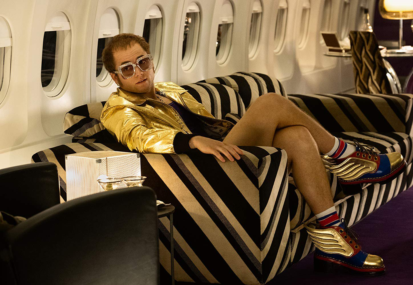 Taron Egerton reveals Rocketman opens with Elton John in confronting rehab scene