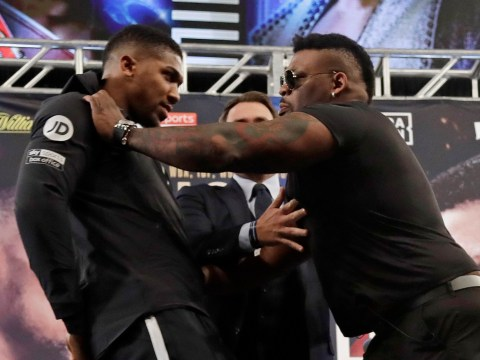 Jarrell Miller says he pushed Anthony Joshua because he smiled during face-off