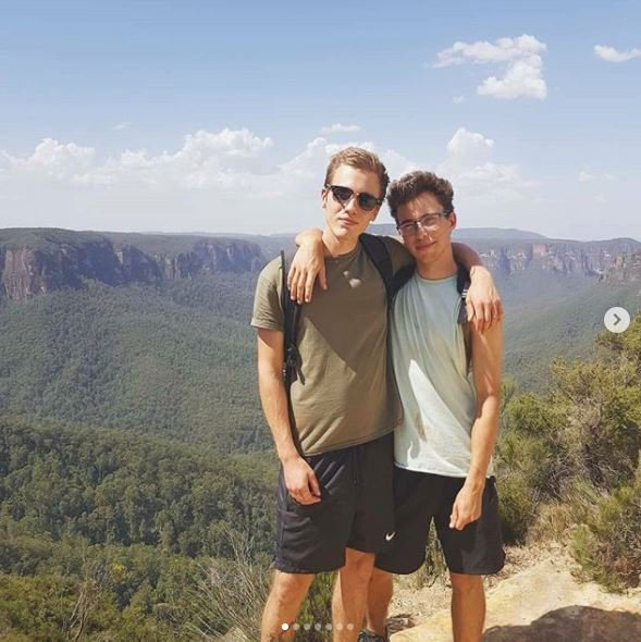 Erwan Ferrieux and Hugo Palmer , who Australian police say are missing. Australian police announced on 19 February 2019 that they started a water and ground search for two overseas tourists, British Hugo Palmer and his French companion Erwan Ferrieux, both aged 20, who were reported missing after their belongings were found by morning walkers on 18 February 2019 at Shelly beach, near Port Macquarie, New South Wales (NSW), Australia. A police search also found their rental car, a silver Commodore Station wagon, in the beach's car park along with a number of personal items including travel documents. Authorities are appealing for public information about the men or their Commodore near Shelly Beach car park or in the surrounding area https://www.instagram.com/p/BswbdN2H68R/