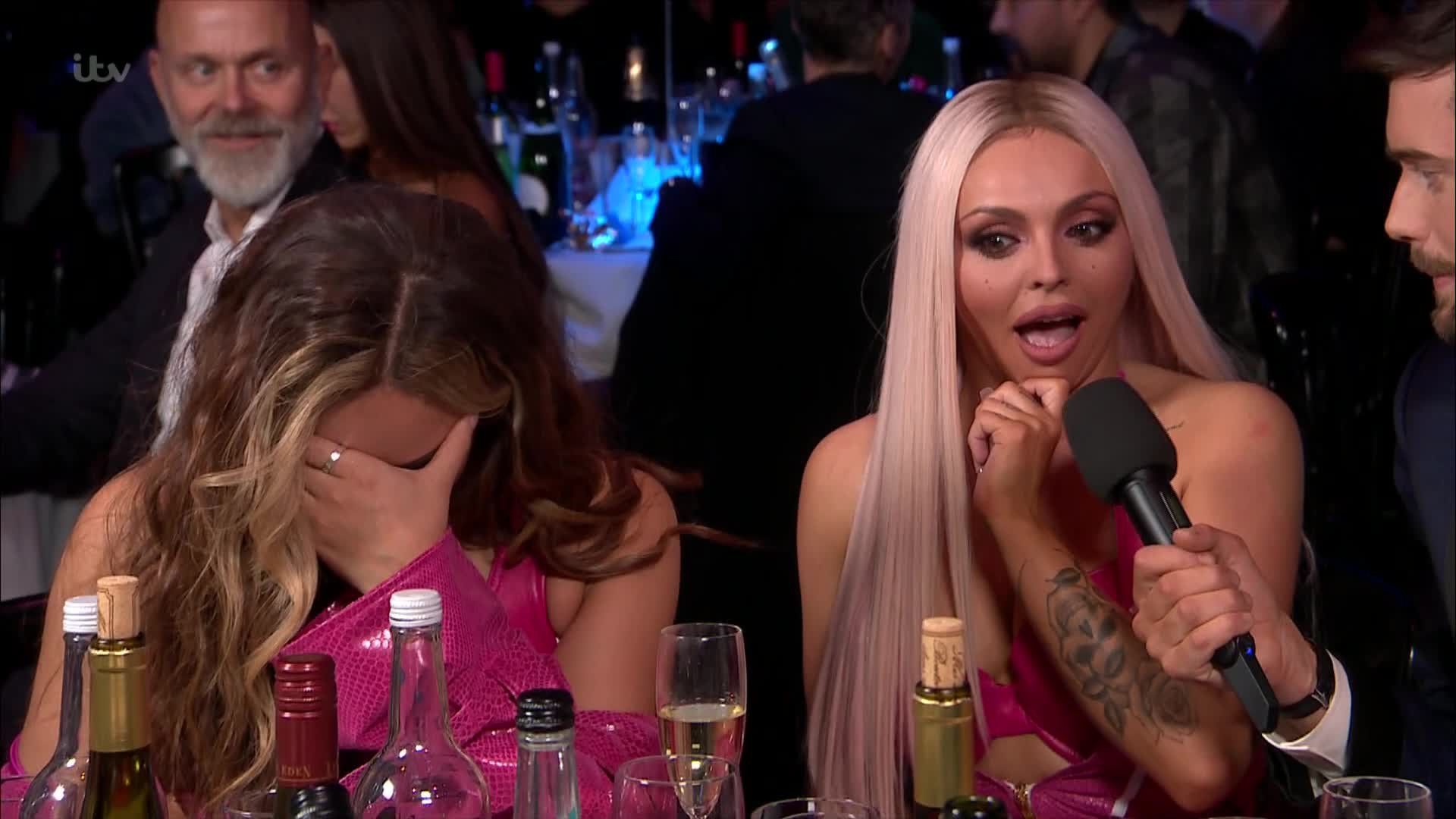 Brit Wards 2019 Awkward Jack Whitehall Little Mix Picture: ITV METROGRAB
