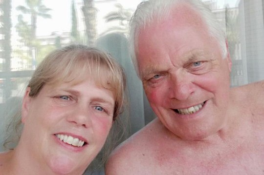 A holidaymaker lost his toe on a trip to Spain - after taking a dip in his hotel hot tub. Rob Barlow, 75, booked the week-long sunshine break to Salou, Spain, with his wife Clare. The pair had enjoyed lazy days at the pool before discovering a 33-degree hot tub on the sun deck. Rob says he took the plunge into the tub about six times before he was struck down with the shakes in his hotel room. Pictured here is Rob Barlow and his wife Clare WALES NEWS SERVICE