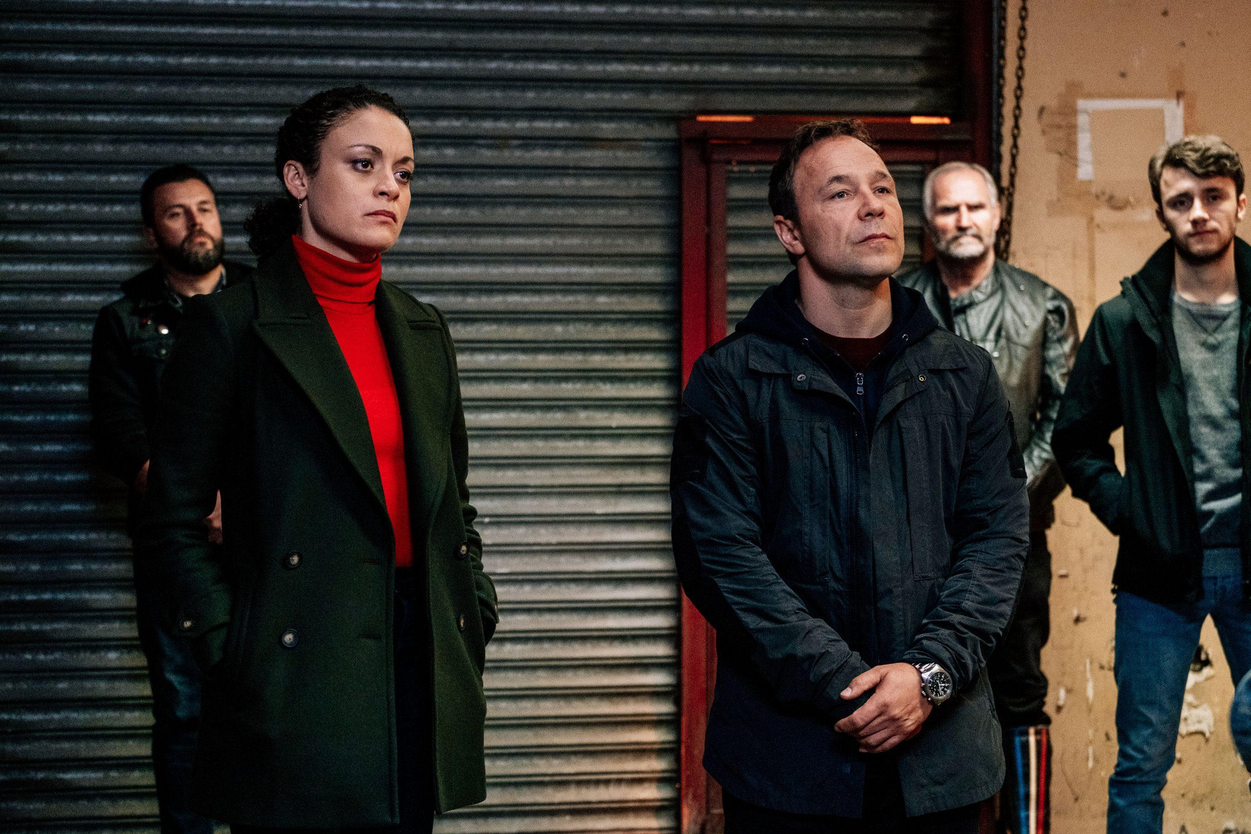 WARNING: Embargoed for publication until 00:00:01 on 26/03/2019 - Programme Name: Line of Duty - Series 5 - TX: n/a - Episode: n/a (No. 1) - Picture Shows: McQueen (ROCHENDA SANDALL), Corbett (STEPHEN GRAHAM) - (C) World Productions - Photographer: Aiden Monaghan