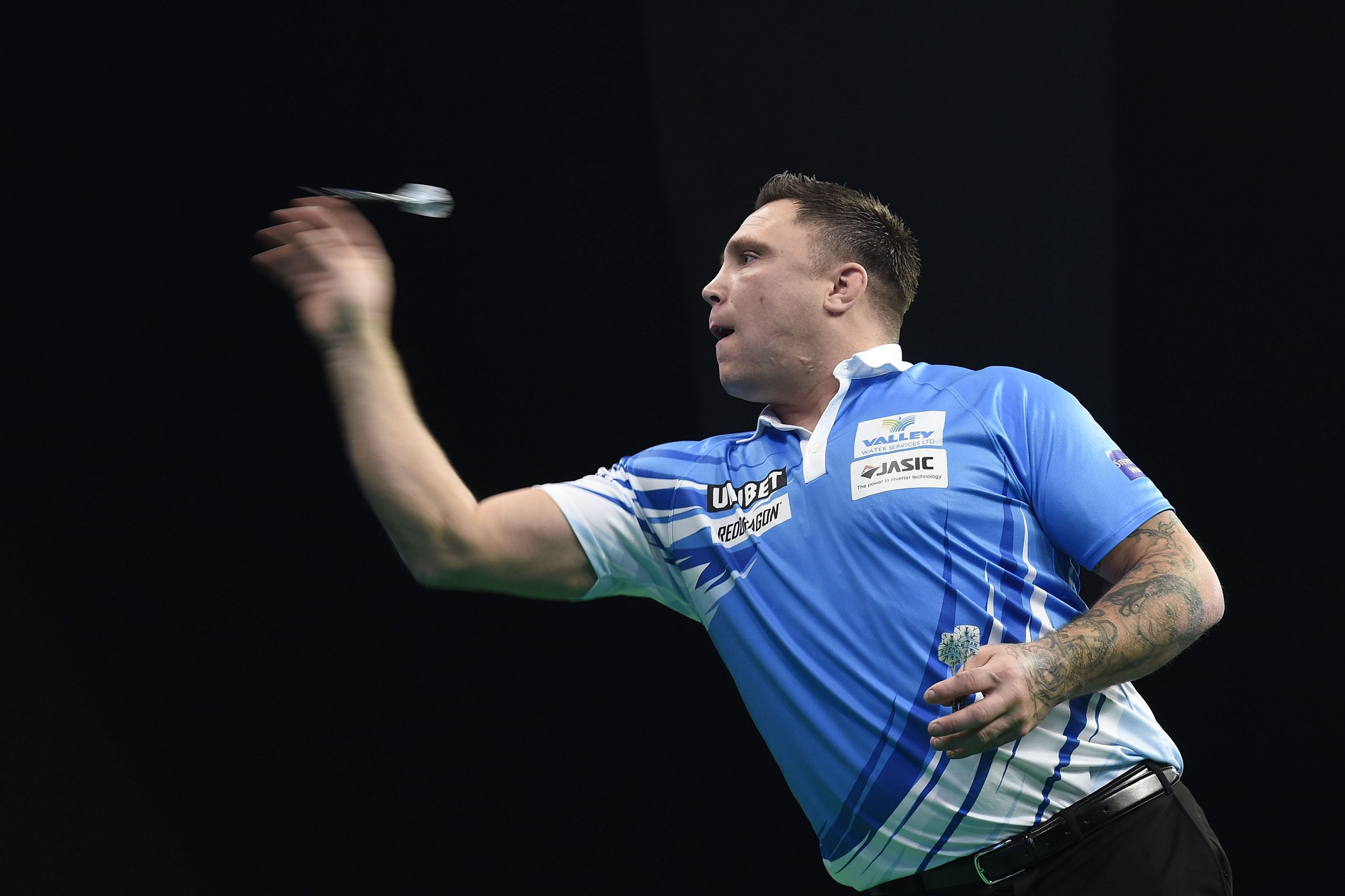 Gerwyn Price wires nine-darter in Premier League Darts draw with Luke Humphries