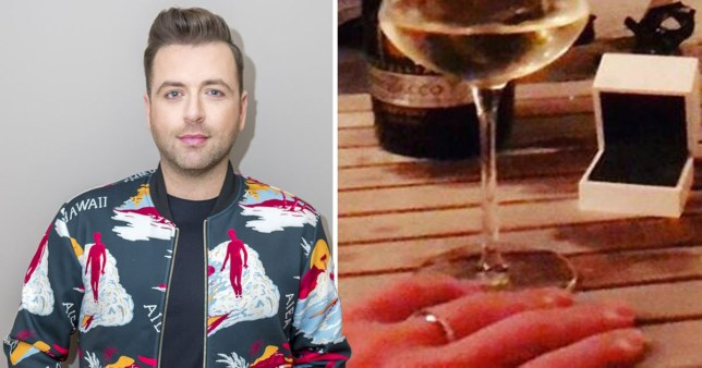 Mark from Westlife engaged