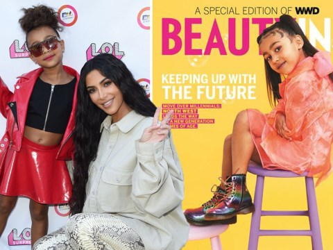 Kim Kardashian bursts with pride as five-year-old North West gets very first magazine cover